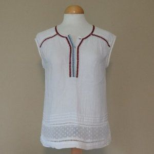 Daniel Rainn Embroidered Cotton Top